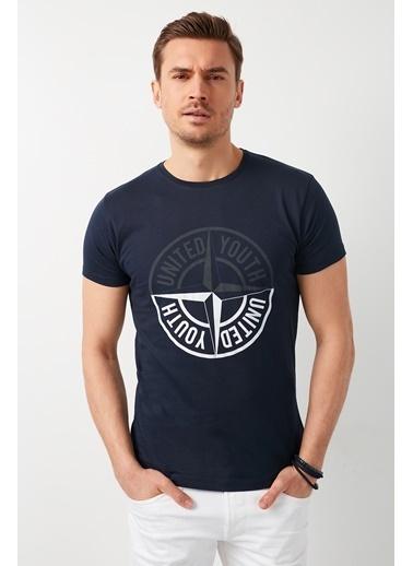 Buratti Buratti Bisiklet Yaka Erkek T-Shirt 541PUSULA Lacivert